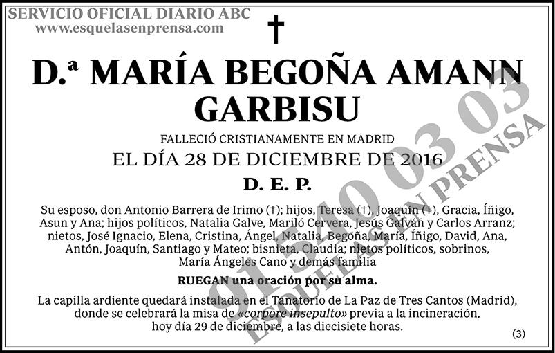 María Begoña Amann Garbisu